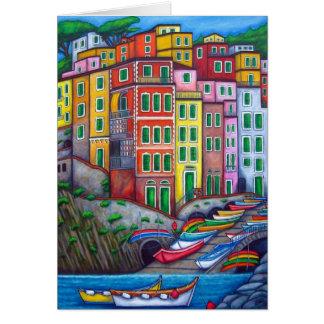 Colours of Riomaggiore Greeting Card