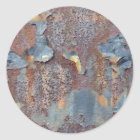 Colours of Rust_725, Rust-Art Classic Round Sticker