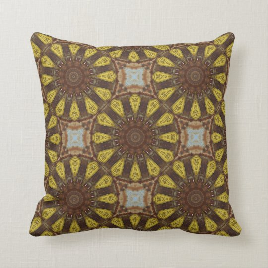 Colours of Rust / mandala-style Cushion