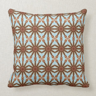 Colours of Rust / mandala-style Throw Pillow