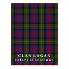 Colours of Scotland Clan Logan Tartan Postcard