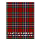 Colours of Scotland Clan MacFarlane Tartan Postcard