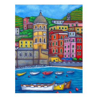 Colours of Vernazza, Cinque Terre Post Card