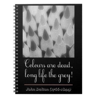 Colours plows dead, long life the congregation! notebooks