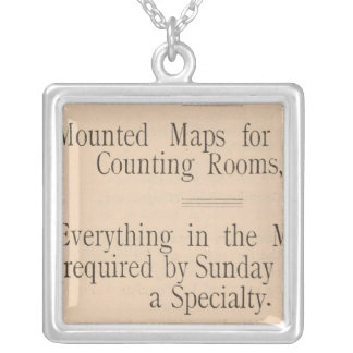 Colton's Driving and Wheeling Map of the US Silver Plated Necklace