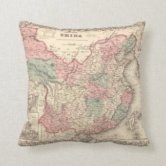 Colton's Map of China (1871) Cushion