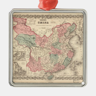 Colton's Map of China (1871) Metal Ornament