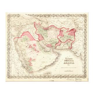 Colton's Map of Persia Arabia (1865) Canvas Print