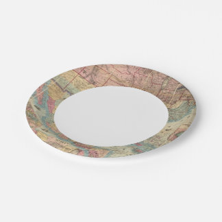 Colton's Railroad And Military Map 7 Inch Paper Plate