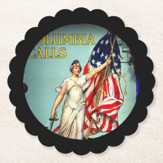 Columbia Calls Enlist Now Paper Coaster