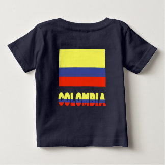 Columbia Flag and Name Baby T-Shirt