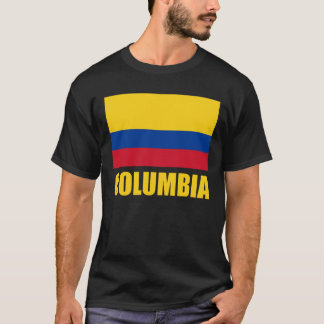 Columbia Flag Yellow Text T-Shirt
