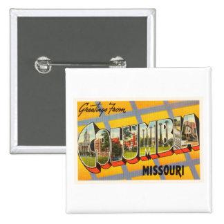 Columbia Missouri MO Old Vintage Travel Souvenir 15 Cm Square Badge