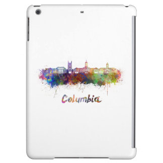 Columbia MO skyline in watercolor