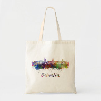 Columbia MO skyline in watercolor Tote Bag