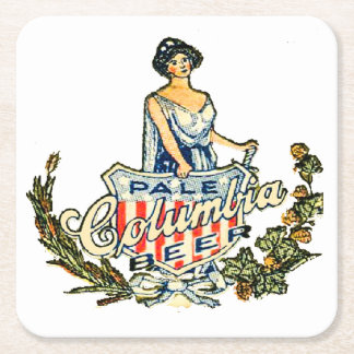 Columbia Pale Beer Square Paper Coaster