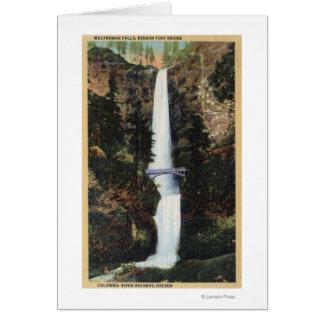 Columbia River, OR - Multnomah Falls and Benson Greeting Card