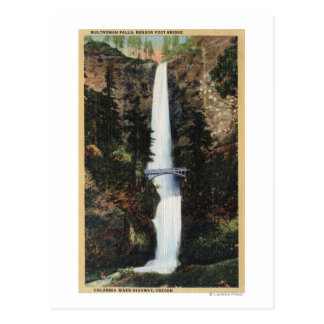 Columbia River, OR - Multnomah Falls and Benson Postcard