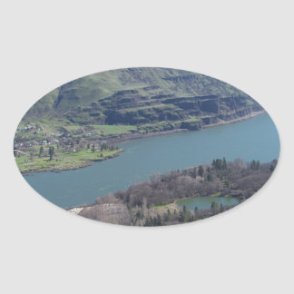 Columbia River Oval Sticker