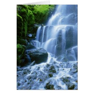Columbia River Waterfall Fine Photo Card