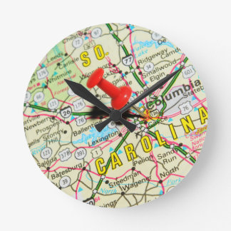 Columbia, South Carolina Round Clock