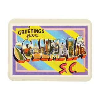 Columbia South Carolina SC Vintage Travel Postcard Rectangular Photo Magnet