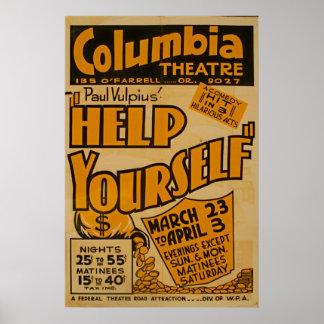Columbia Theatre Vintage Poster