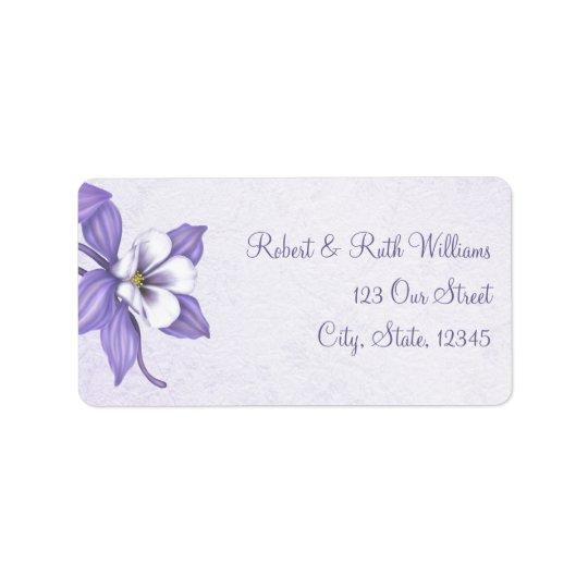 Columbine Bouquet 1 Address Labels