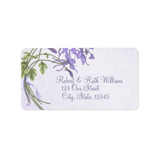 Columbine Bouquet 2 Address Labels