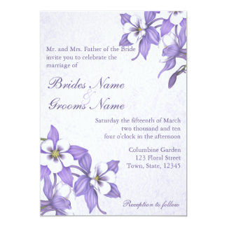 Columbine Bouquet 2 Wedding Invitations