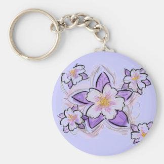 Columbine flower keychain