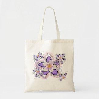 Columbine flower reusable bag