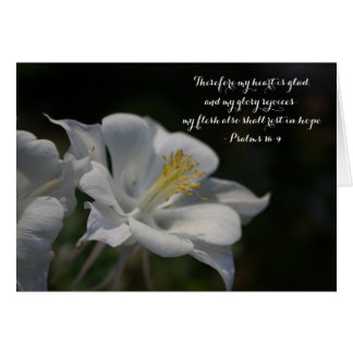 Columbine Flower Shooting Star Psalm 16:9 Card