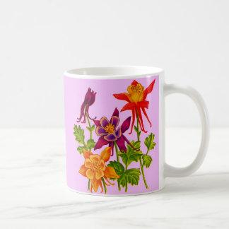 columbine flowers coffee mug