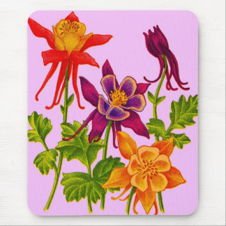 columbine flowers mouse pad