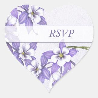 Columbine RSVP Heart Envelope Sticker