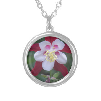 Columbine Silver Plated Necklace
