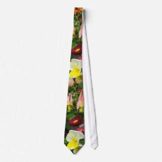 Columbines  Garden Wedding Tie
