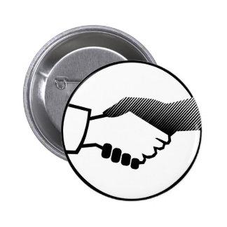columbus 16  black white history agreement partner 6 cm round badge