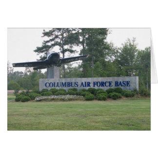 Columbus Air Force Base Greeting Card