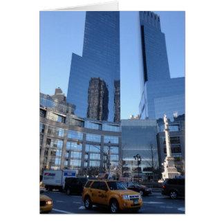 Columbus Circle NYC New York Skyscrapers Taxi Card