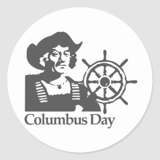 Columbus Day Classic Round Sticker