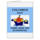 COLUMBUS day indian joke Card