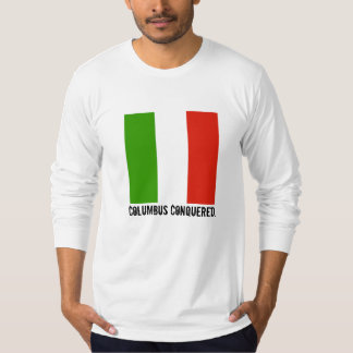 Columbus Day Italian Flag Mens Shirt