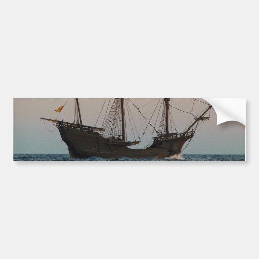 Columbus Era Ship Bumper Sticker