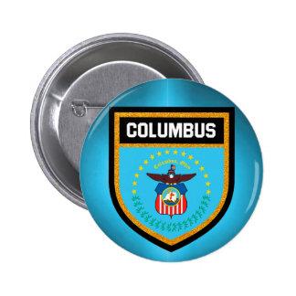 Columbus  Flag 6 Cm Round Badge