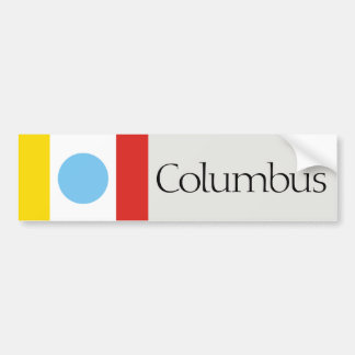 Columbus flag bumper sticker