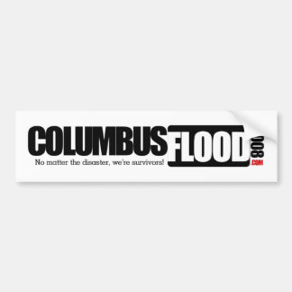 Columbus Flood Bumper Sticker