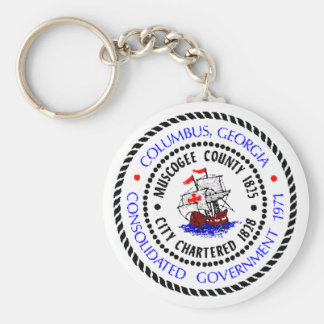 Columbus, Georgia Seal Key Ring