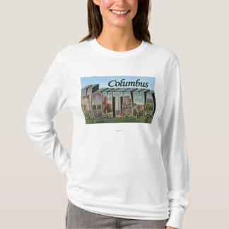 Columbus, Montana - Large Letter Scenes T-Shirt